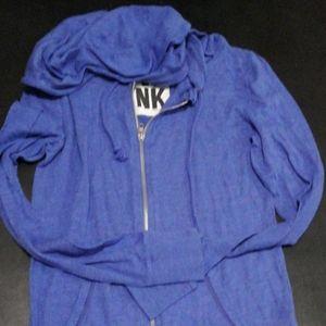Combo sweater on hood and sports bra